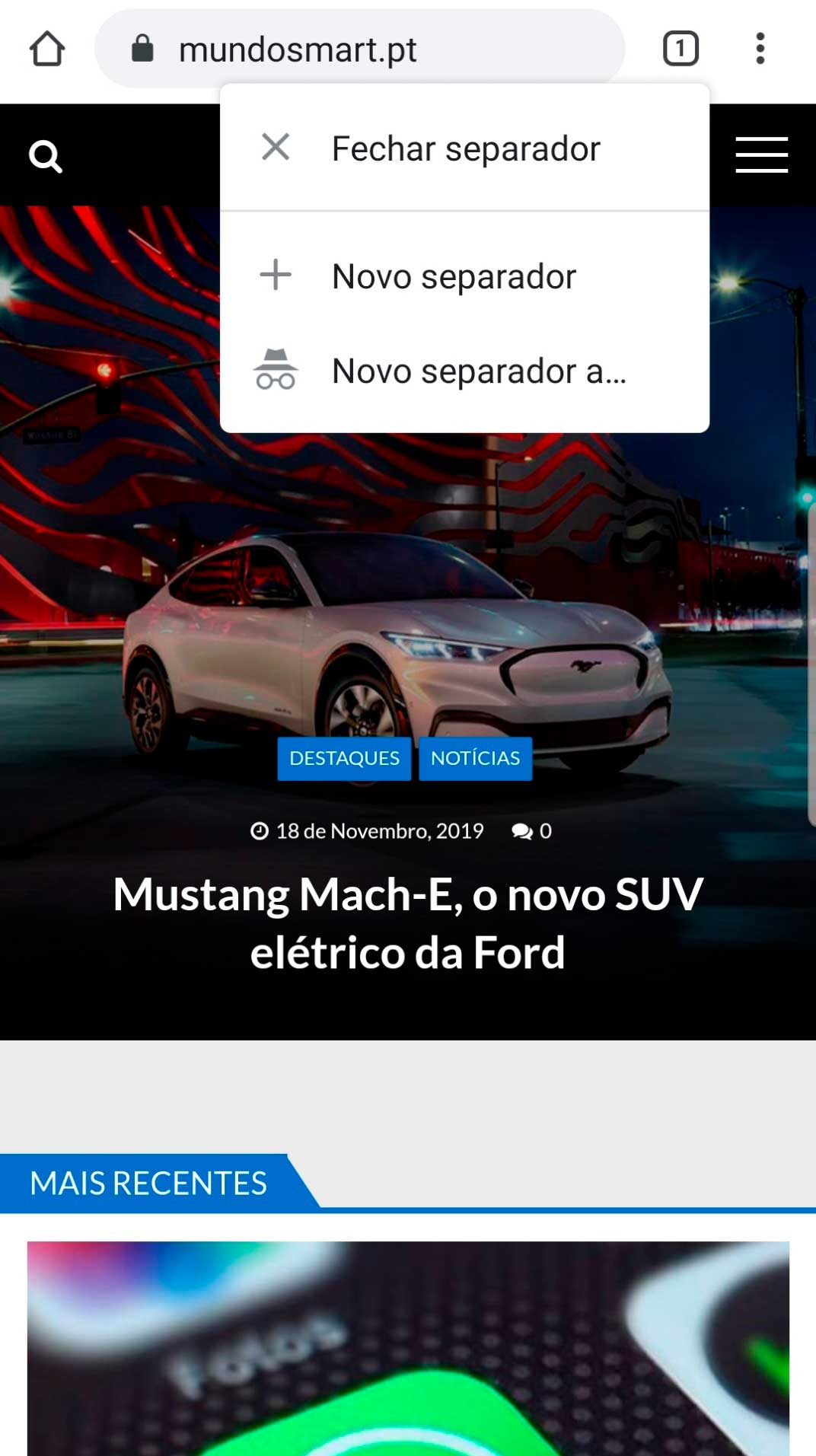 Google Chrome com nova função no Android – Mundo Smart - mundosmart