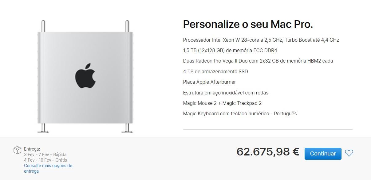Novo Mac Pro pode chegar perto dos 70.000€ - Mundo Smart - mundosmart