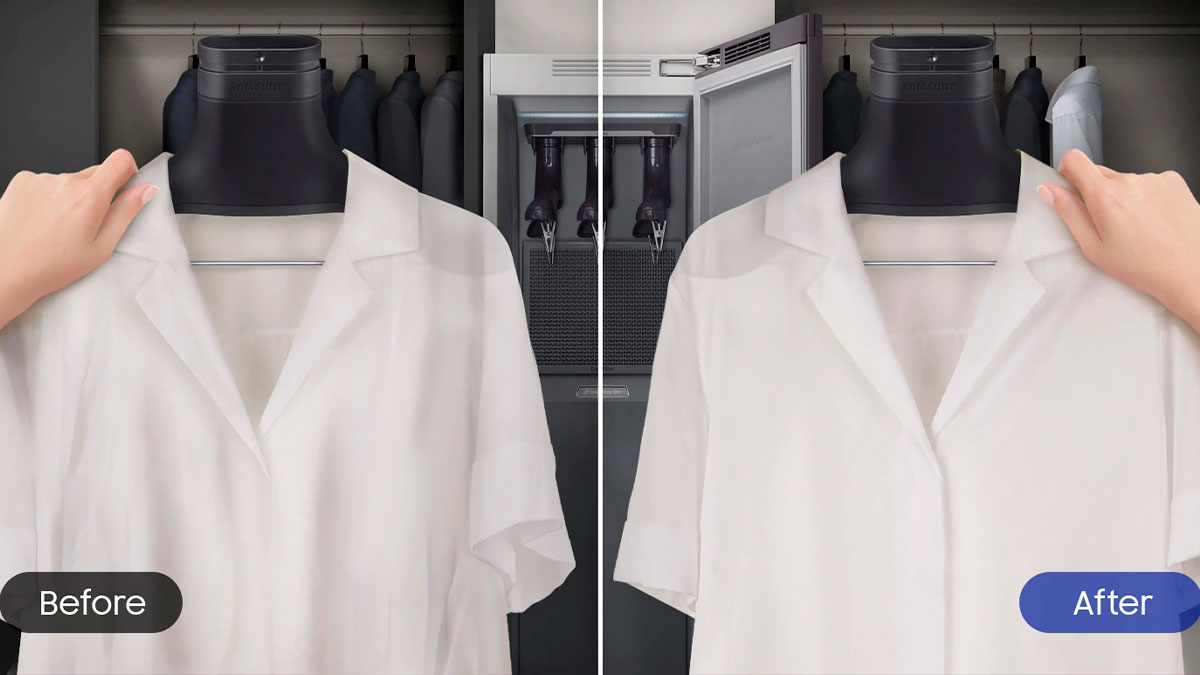 Samsung apresenta armário que lava e passa a roupa – Mundo Smart - mundosmart