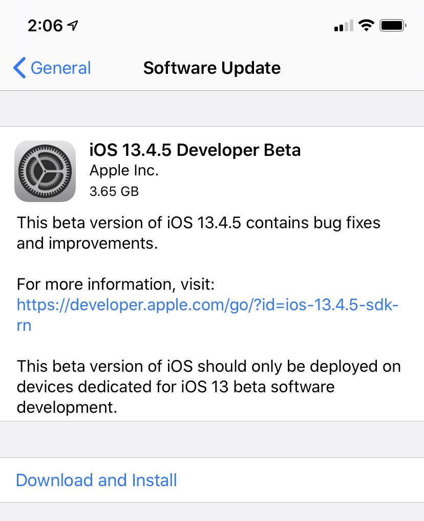 Apple disponibiliza novo iOS 13.4.5 para programadores – Mundo Smart - mundosmart