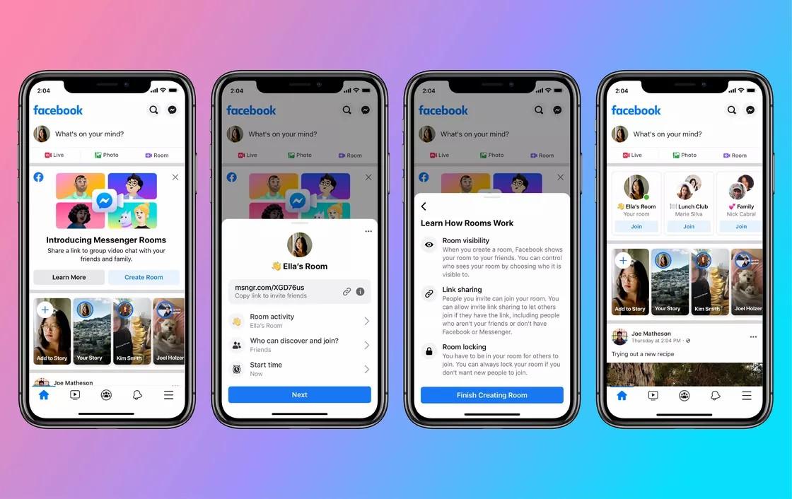 Facebook cria o Messenger Rooms que permite videochamadas até 50 pessoas – Mundo Smart - mundosmart