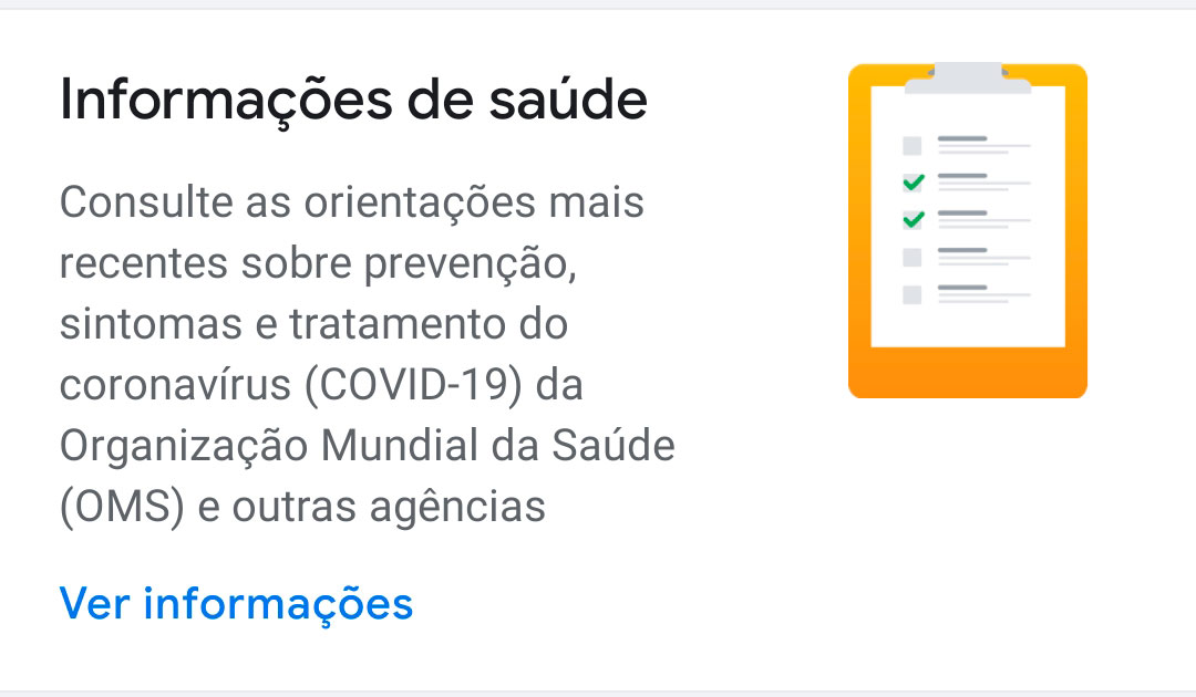 Google creates informational area about COVID-19 in its news and podcast applications - Mundo Smart - mundosmart
