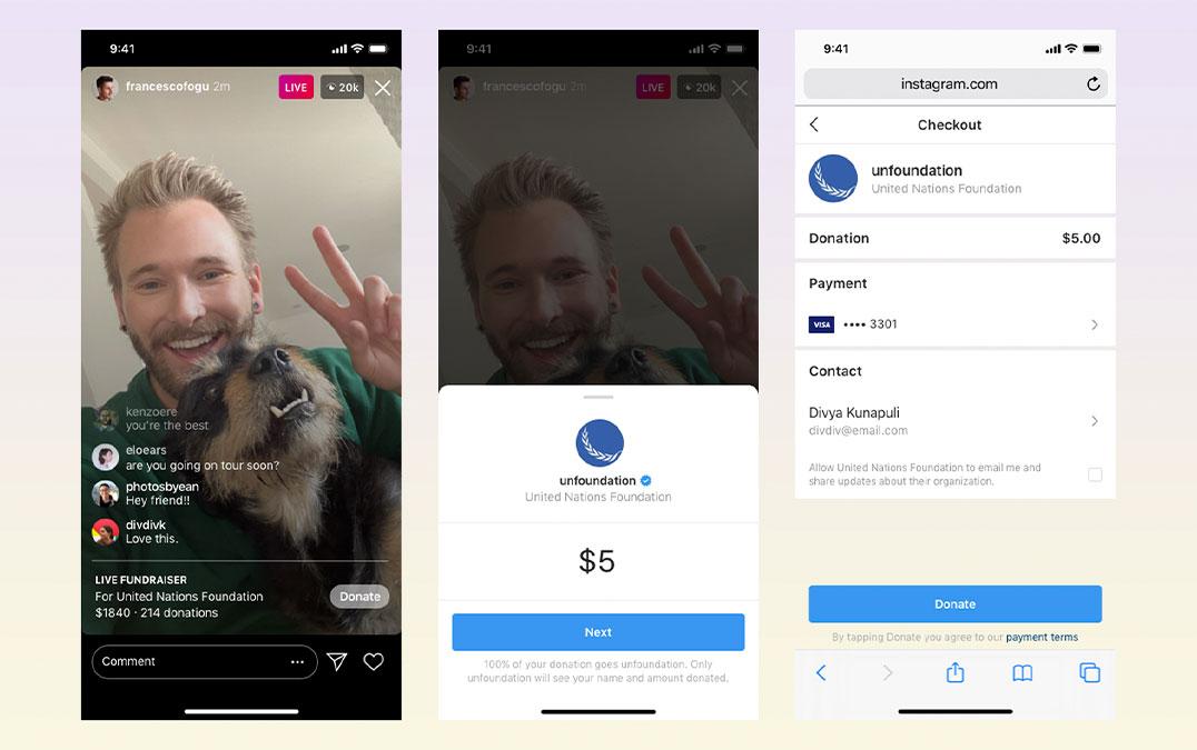 Diretos no Instagram vão puder fazer angariações de fundos diretamente para organizações – Mundo Smart - mundosmart