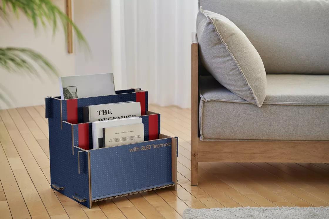 Samsung vai aproveitar as caixas das TV's para criar outros objetos, como casas para gatos – Mundo Smart – mundosmart
