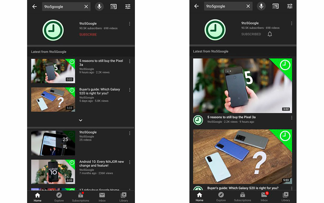 Youtube changes the design of your application and gives more prominence to videos - Mundo Smart - mundosmart