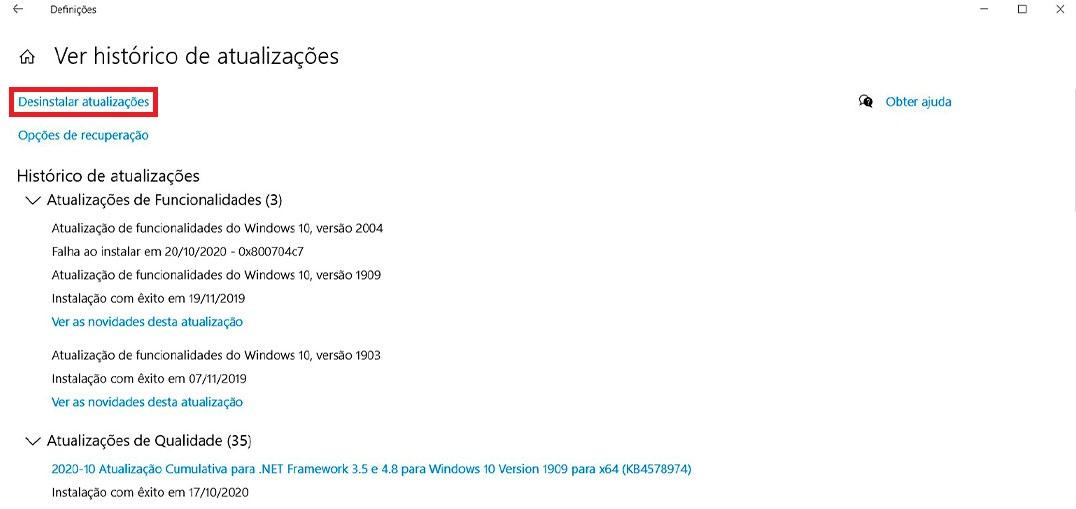 Windows 10: Como remover uma atualização instalada? – Mundo Smart - mundosmart